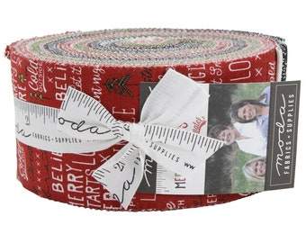 FREE SHIPPING Merry Starts Here Jelly Roll by Sweetwater for Moda