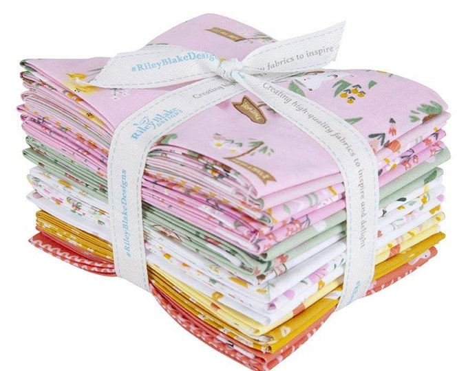 Easter Egg Hunt Fat Quarter Bundle by Natàlia Juan Abelló for Riley Blake Designs