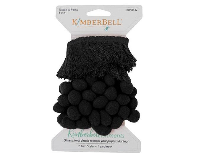 Kimberbellishments Black Tassels & Pom Pom Trim