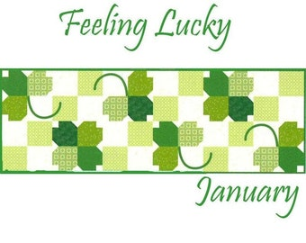 "Free Shipping! ""Feeling Lucky"" Riley Blake Table Runner of the Month Kit - January 2020"