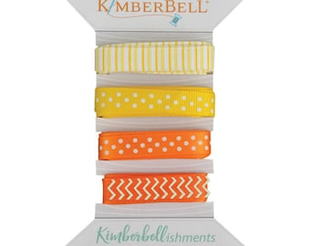 Kimberbellishments Yellow & Orange Ribbon Set