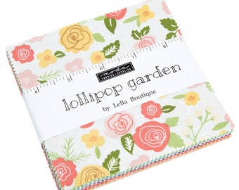 FREE SHIPPING Lollipop Garden Charm Pack by Lella Boutique for Moda