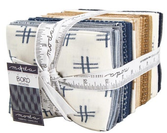 FREE SHIPPING Boro Wovens Fat Quarter Bundle by Moda