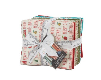 FREE SHIPPING Oh What Fun Fat Quarter Bundle by Sandy Gervais for Moda