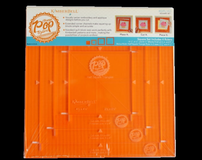 Orange Pop Rulers Square Set by Kimberbell