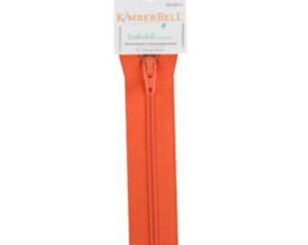 """Kimberbellishments 16"""" Orange Zipper"""