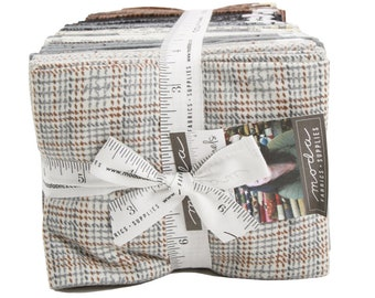 FREE SHIPPING Farmhouse Flannels Fat Quarter Bundle by Primitive Gatherings for Moda