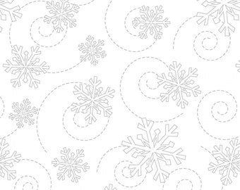 Kimberbell Basics White on White Snowflakes