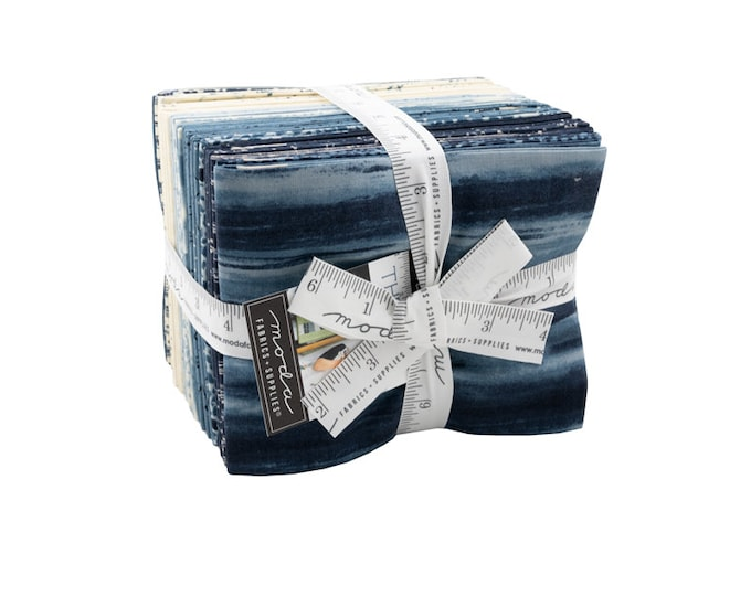 The Blues Fat Quarter Bundle by Janet Clare for Moda