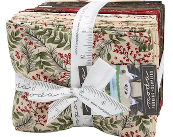 FREE SHIPPING Winter Manor Fat Quarter Bundle by Holly Taylor for Moda