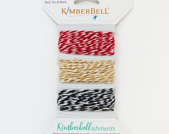 Kimberbellishments Red, Tan & Black Twine Set