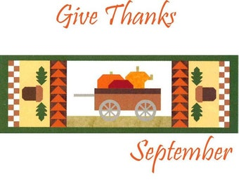 "Free Shipping! ""Give Thanks"" Riley Blake Table Runner of the Month Kit - September 2019"