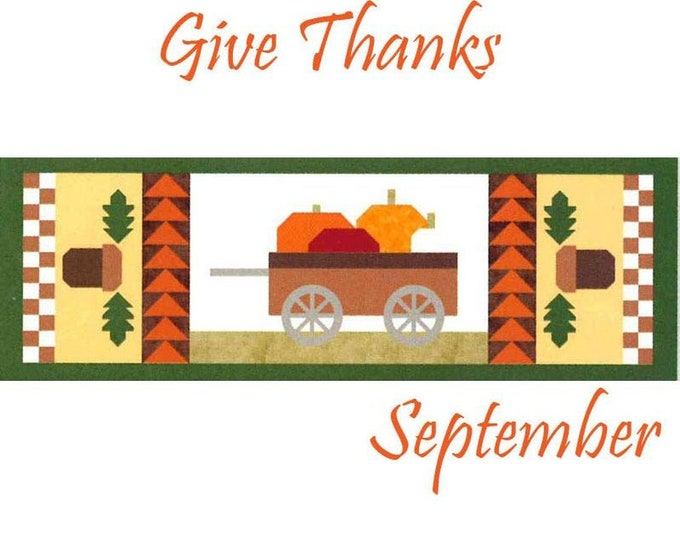 "SALE ""Give Thanks"" Riley Blake Table Runner of the Month Kit - September 2019"
