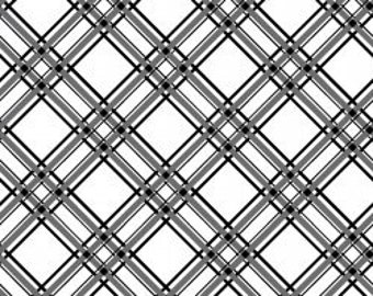 Kimberbell Basics Diagonal Plaid Black