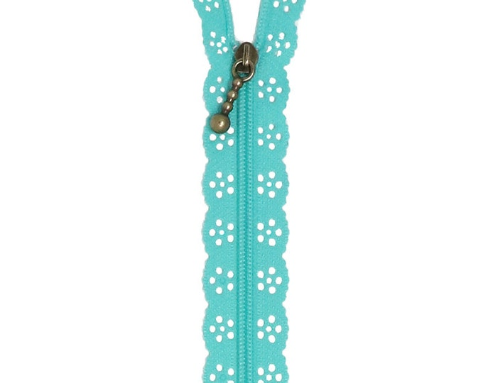 Kimberbell Lace Zipper - Robin's Egg Blue