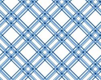 Kimberbell Basics Diagonal Plaid Blue