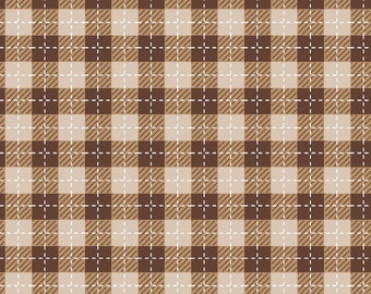 We Whisk You A Merry Christmas - Brown Buffalo Plaid by Kimberbell
