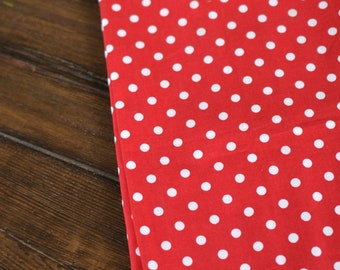 Red Polka Dot Tea Towels (Set of 2) by Kimberbell