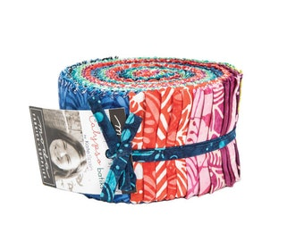 FREE SHIPPING Calypso Batiks Jelly Roll by Kate Spain for Moda