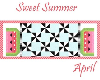 Free Shipping! Riley Blake Table Runner of the Month Kit - April 2019