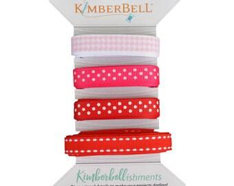 Kimberbellishments Red & Pink Ribbon Set