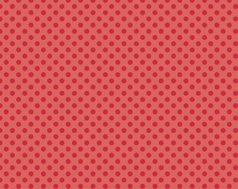 Small Dots Tone on Tone Red by Riley Blake Designs