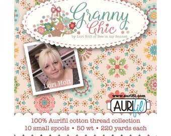 Granny Chic Thread Collection by Lori Holt - 10 Small Spools of 50wt