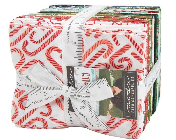 To Be Jolly Fat Quarter Bundle by One Canoe Two for Moda