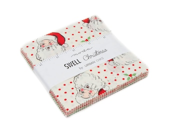 FREE SHIPPING Swell Christmas Charm Pack by Urban Chiks for Moda