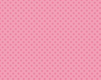 Small Dots Tone on Tone Hot Pink by Riley Blake Designs