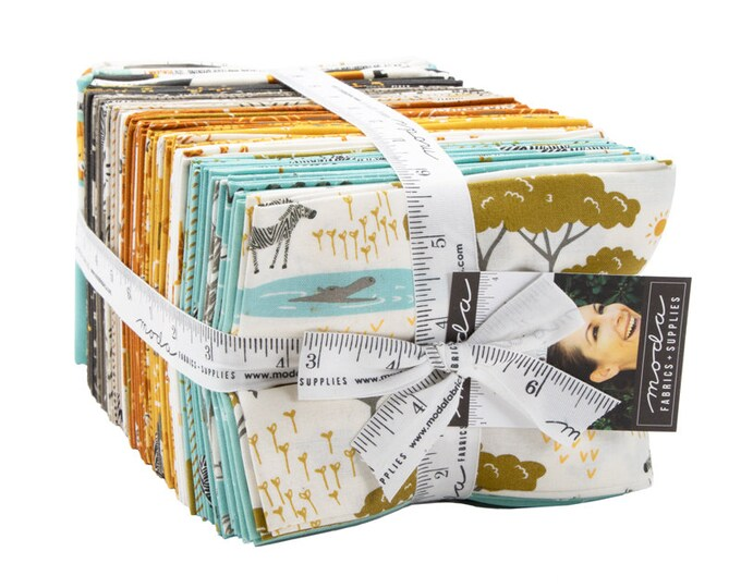 Featured listing image: Safari Life Fat Quarter Bundle by Stacy Iest Hsu for Moda