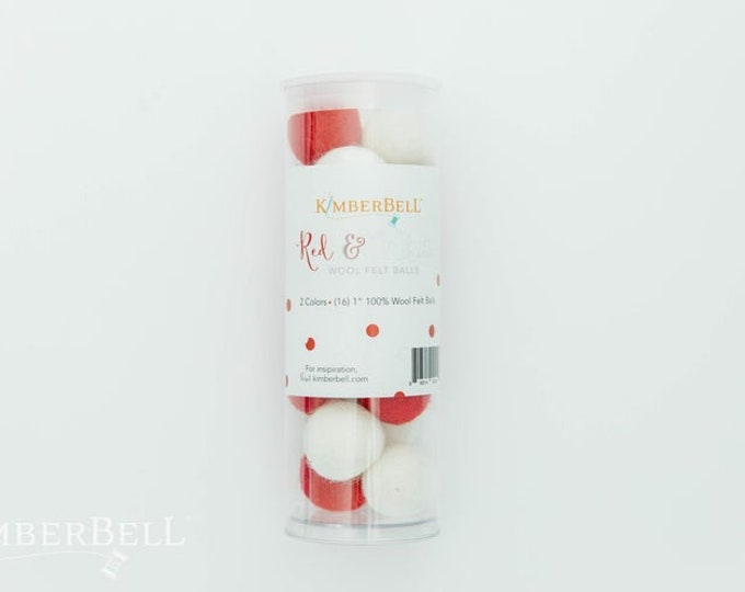 Wool Felt Balls - Red and White by Kimberbell
