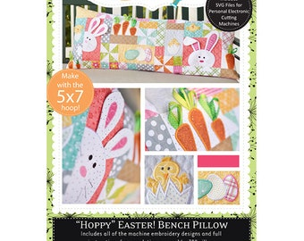 Hoppy Easter! Bench Pillow Machine Embroidery CD by Kimberbell