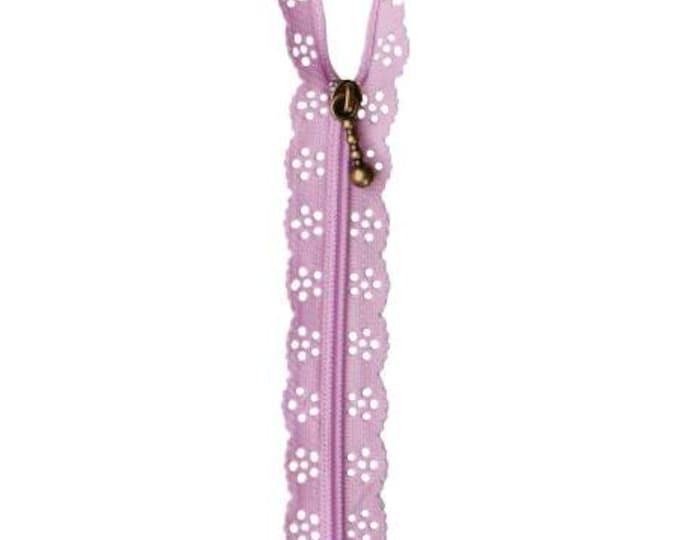 Kimberbell Lace Zipper - Lavender