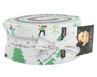 FREE SHIPPING Snow Day Jelly Roll by Stacy Iest Hsu for Moda