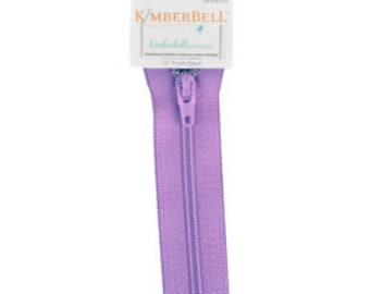 "Kimberbellishments 16"" Purple Zipper"