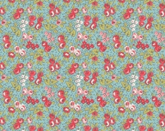 Linen and Lawn Blue Floral by Sue Daley