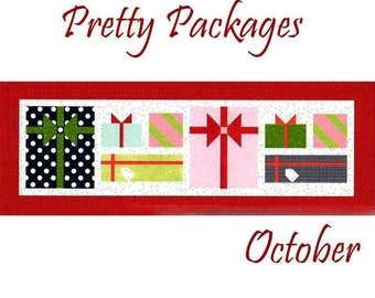 "Free Shipping! ""Pretty Packages"" Riley Blake Table Runner of the Month Kit - October"