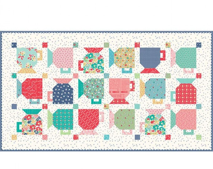 Good Morning Mugs Table Runner Kit featuring Vintage Happy 2 by Lori Holt
