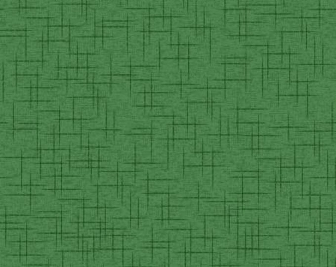 Kimberbell Basics Green Linen Texture