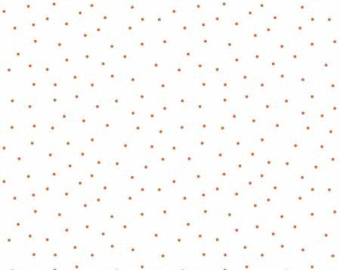 Kimberbell Basics White and Orange Tiny Dots