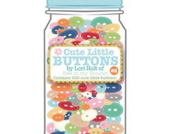 Cute Little Buttons Jar #2 by Lori Holt