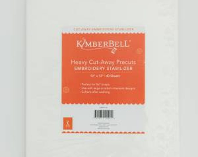 Heavy Cut-Away Precuts Embroidery Stabilizer by Kimberbell