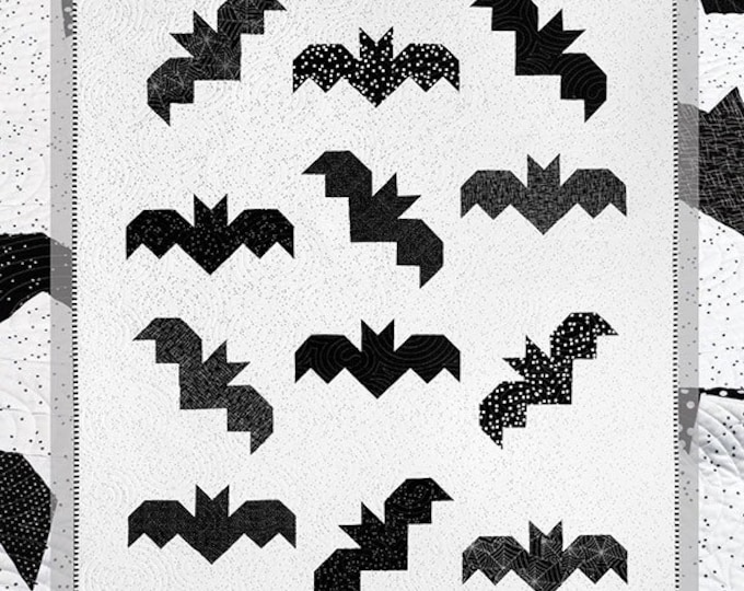 Bats Quilt Pattern by Cluck Cluck Sew