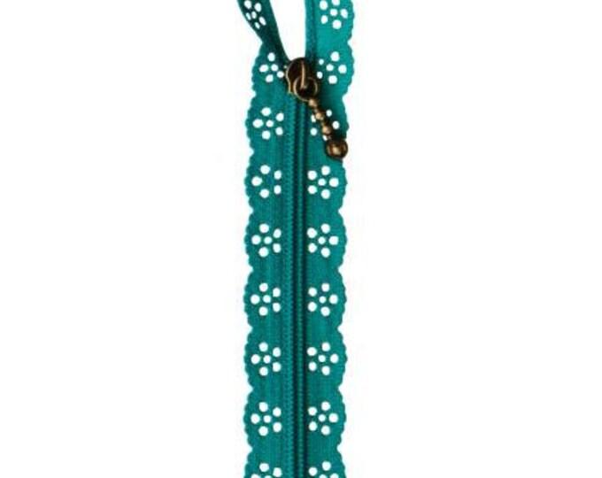 Kimberbell Lace Zipper - Deep Sea Blue