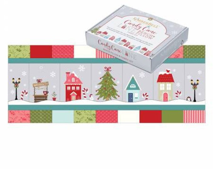 Candy Cane Lane Bench Pillow Fabric Kit by Kimberbell