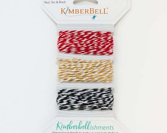 Kimberbellishments Red, Tan & Black Twine Set