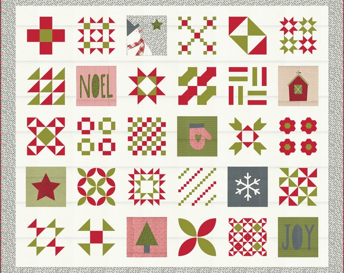 Red Barn Christmas Quilt Kit by Sweetwater for Moda