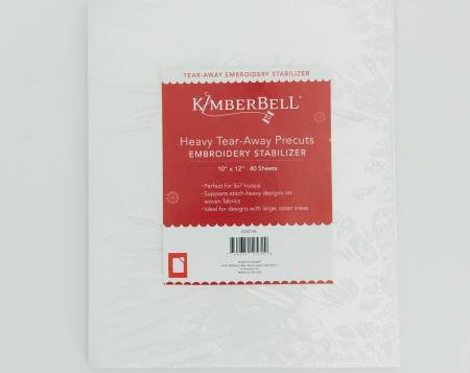Heavy Tear-Away Precuts Embroidery Stabilizer by Kimberbell