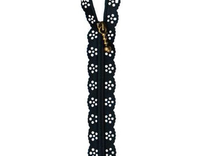 Kimberbell Lace Zipper - Navy